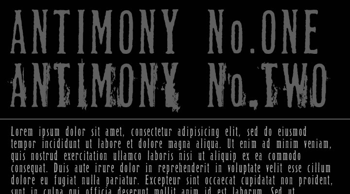 Antimony All Fonts
